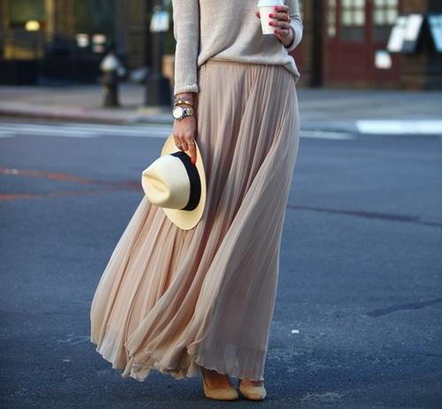 jupe longue avec talons