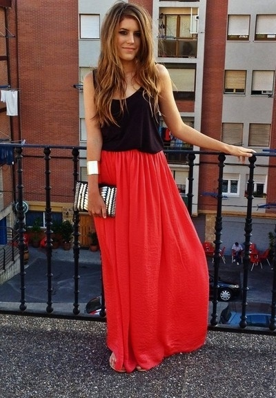tenue jupe longue