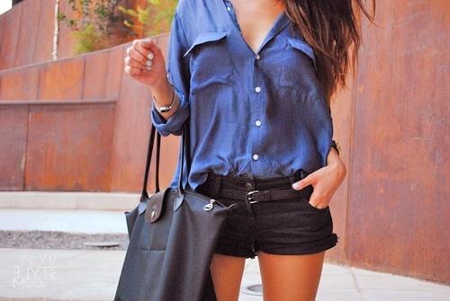 Mini short en jean special soirée