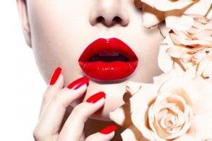 mannequin avec des roses