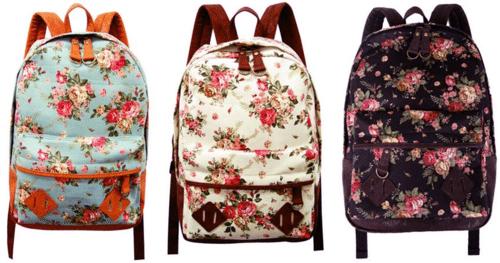 sac à dos à fleur