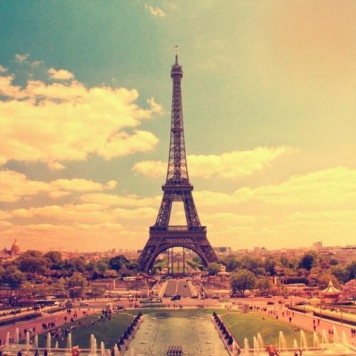tour eiffel à Paris depuis le trocadero