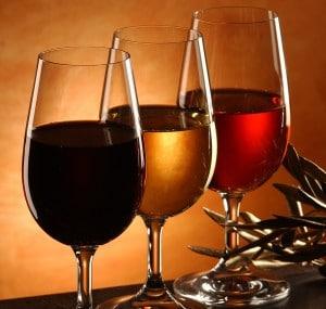 echantilon de verres de vin