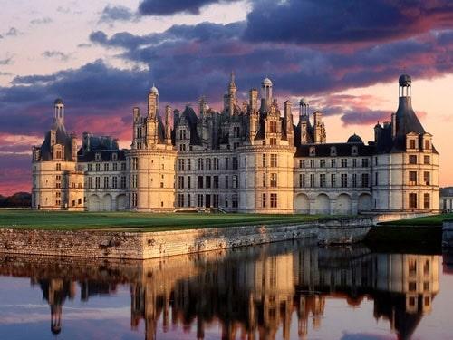 Chateau de chambord couché du soleil