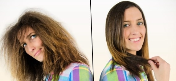 lissage de cheveux rapide