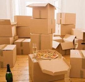 Cartons et pizzas